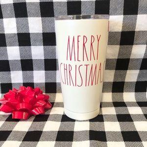 Rae Dunn Christmas MERRY CHRISTMAS tumbler